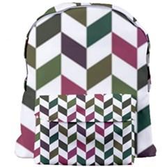 Zigzag Chevron Pattern Green Purple Giant Full Print Backpack by snowwhitegirl