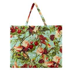 Fruit Blossom Zipper Large Tote Bag