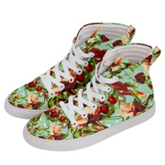 Fruit Blossom Men s Hi Top Skate Sneakers by snowwhitegirl