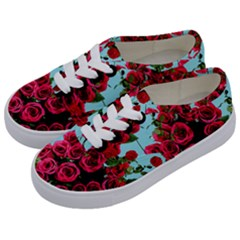 Roses Blue Kids  Classic Low Top Sneakers by snowwhitegirl