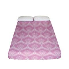 Damask Pink Fitted Sheet (full/ Double Size) by snowwhitegirl