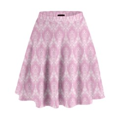 Damask Pink High Waist Skirt by snowwhitegirl