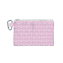 Damask Pink Canvas Cosmetic Bag (small) by snowwhitegirl