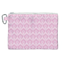Damask Pink Canvas Cosmetic Bag (xl) by snowwhitegirl
