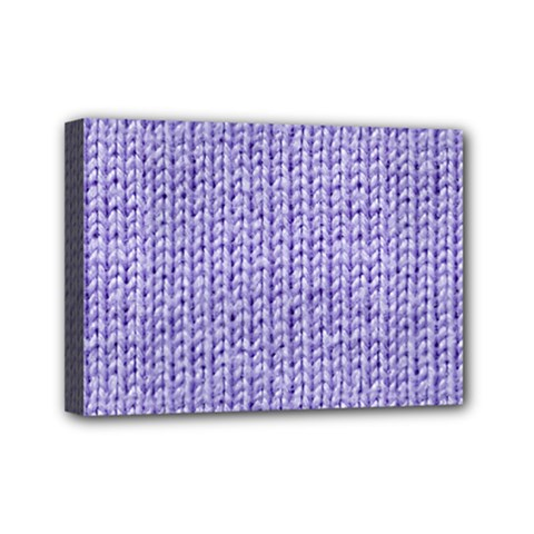 Knitted Wool Lilac Mini Canvas 7  X 5
