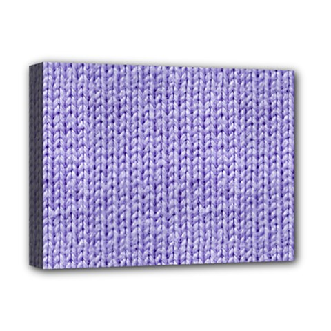 Knitted Wool Lilac Deluxe Canvas 16  X 12   by snowwhitegirl