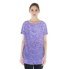 Knitted Wool Lilac Skirt Hem Sports Top by snowwhitegirl