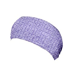 Knitted Wool Lilac Yoga Headband by snowwhitegirl