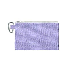 Knitted Wool Lilac Canvas Cosmetic Bag (small) by snowwhitegirl