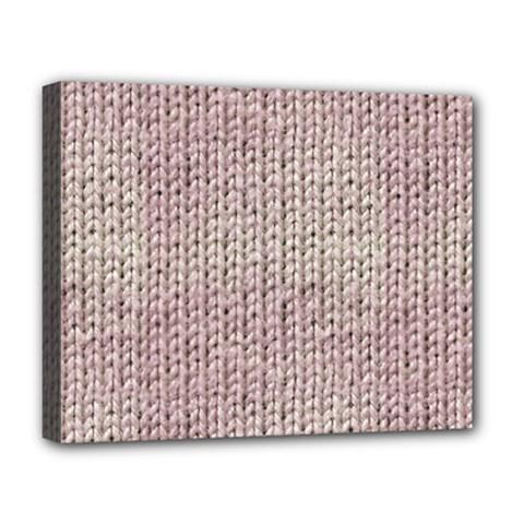 Knitted Wool Pink Light Deluxe Canvas 20  X 16   by snowwhitegirl
