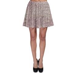 Knitted Wool Pink Light Skater Skirt by snowwhitegirl