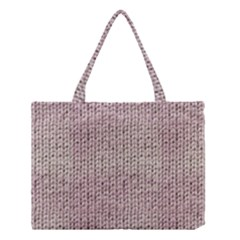 Knitted Wool Pink Light Medium Tote Bag