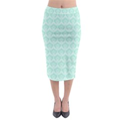 Damask Aqua Green Midi Pencil Skirt by snowwhitegirl