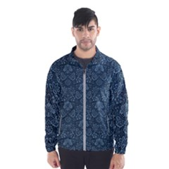 Damask Blue Wind Breaker (men)
