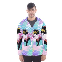 Japanese Abstract Hooded Wind Breaker (men) by snowwhitegirl