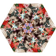 Victorian Collage Mini Folding Umbrellas