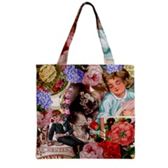 Victorian Collage Grocery Tote Bag by snowwhitegirl