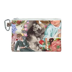 Victorian Collage Canvas Cosmetic Bag (medium) by snowwhitegirl