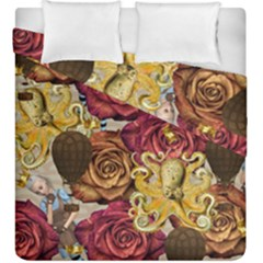 Octopus Floral Duvet Cover Double Side (king Size) by snowwhitegirl