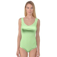 Green Chevron Princess Tank Leotard