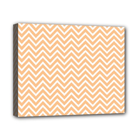 Orange Chevron Canvas 10  X 8  by snowwhitegirl