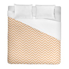 Orange Chevron Duvet Cover (full/ Double Size) by snowwhitegirl