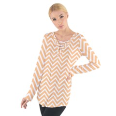 Orange Chevron Tie Up Tee
