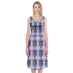 Three Women Blue Midi Sleeveless Dress by snowwhitegirl