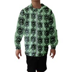 Three Women Green Hooded Wind Breaker (kids) by snowwhitegirl