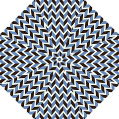 Chevron Blue Brown Folding Umbrellas