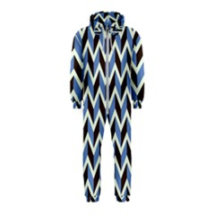 Chevron Blue Brown Hooded Jumpsuit (kids)