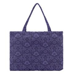 Damask Purple Medium Tote Bag