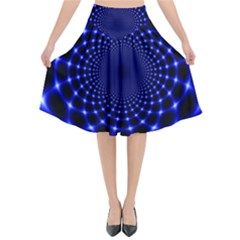Indigo Lotus 2 Flared Midi Skirt