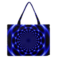 Indigo Lotus  Zipper Medium Tote Bag