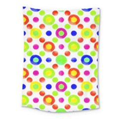 Multicolored Circles Motif Pattern Medium Tapestry by dflcprints