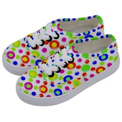 Multicolored Circles Motif Pattern Kids  Classic Low Top Sneakers by dflcprints