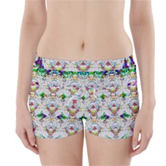 Nine Little Cartoon Dogs In The Green Grass Boyleg Bikini Wrap Bottoms