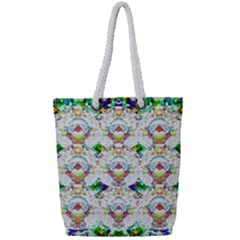 Nine Little Cartoon Dogs In The Green Grass Full Print Rope Handle Tote (small) by pepitasart