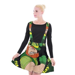 St  Patricks Day Suspender Skater Skirt
