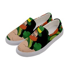 St  Patricks Day Women s Canvas Slip Ons by Valentinaart
