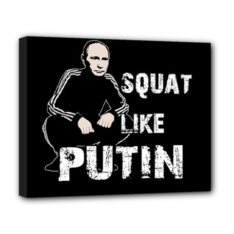 Squat Like Putin Deluxe Canvas 20  X 16   by Valentinaart
