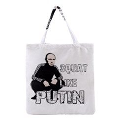 Squat Like Putin Grocery Tote Bag by Valentinaart