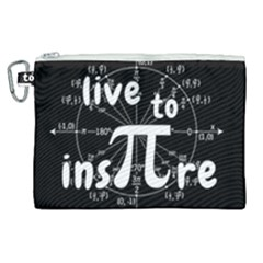 Pi Day Canvas Cosmetic Bag (xl) by Valentinaart