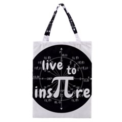Pi Day Classic Tote Bag by Valentinaart