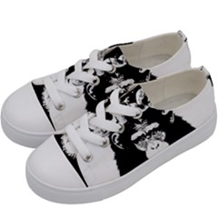 Stop Animal Abuse   Chimpanzee  Kids  Low Top Canvas Sneakers by Valentinaart