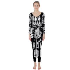 Animal Liberation Front   Chimpanzee  Long Sleeve Catsuit by Valentinaart