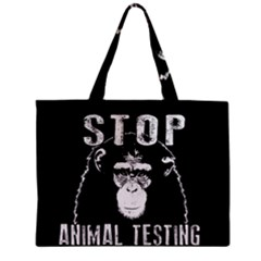 Stop Animal Testing   Chimpanzee  Mini Tote Bag by Valentinaart