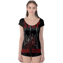 Stop Animal Testing   Rabbits  Boyleg Leotard  by Valentinaart