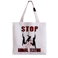 Stop Animal Testing   Rabbits  Grocery Tote Bag by Valentinaart