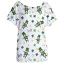 St Patricks day pattern Women s Oversized Tee View1